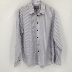JBH Jhane Barnes cotton slim fit stripe shirt XL